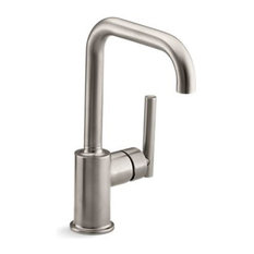 "Kohler Purist Single-Hole Kitchen Sink Faucet with 6"" Spout, Vibrant Stainless"