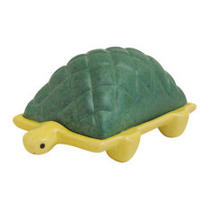 Tortoise Butter Dish, Green and Yellow