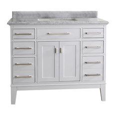 bathroom vanity single sink. 1st Avenue  Lillian Carrara Marble Bathroom Vanity White 42 Vanities Single Sink Houzz
