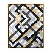 Moes Home Contemporary Modern Wall Art With Multi Finish RX-1042-37