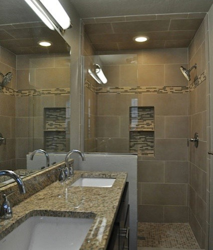 Long Narrow Bathroom Home Design Ideas, Pictures, Remodel and Decor