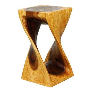 Haussmann® Original Wood Twist Stool 10 X 10 X 18 In High Oak Oil
