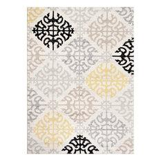 Toscana Geometric Cream Contemporary Area Rugs, 2'x3'