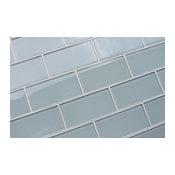 "Ice Age 3x6 Glass Subway Tile, 3""x6"" Tiles, Set of 8"