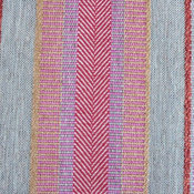 Oggay Textured Stripe With Organic/Raw Look Upholstery Fabric, Pitaya