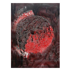 """Deep Red Moon, Wall Tapestry, 36""""x24"""""""