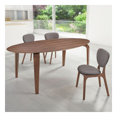 Zuo Decorative Accent Furniture Virginia Key Dining Table Walnut