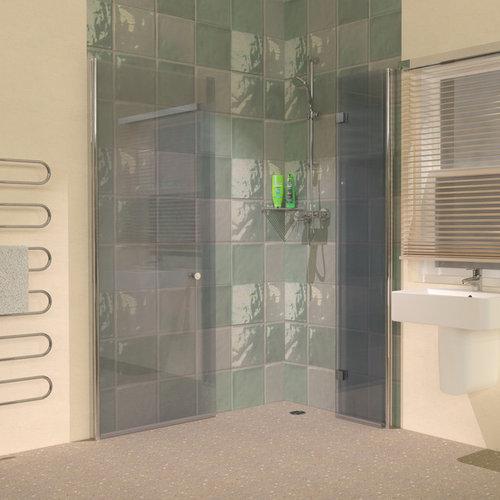 Folding Hinged Wet Room Shower Screen