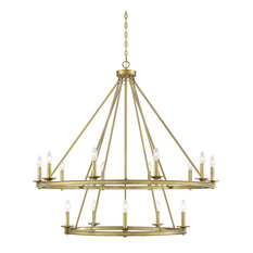 Middleton 15-Light Chandelier, Warm Brass