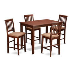 5-Piece Pub Table Set Pub Table And 4 Counter Chairs