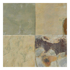 "Autumn Desert Slate Tiles, Gauged, 12""x12"", 10 Sq. ft."