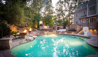 Pool with fire features