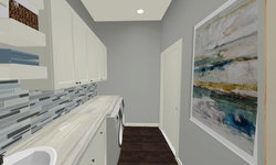 Sherbourne Circle - Laundry Room 3D Drawing