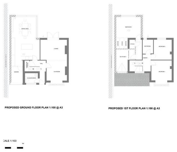 Contemporary Floor Plan by EB Interiors