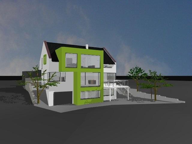 Neubau von einem Einfamilienhaus