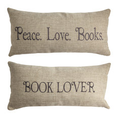 Gift for Book Lover Double Sided Indoor Outdoor Pillow