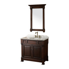 "Wyndham Collection 36"" andover Single Sink Bathroom Vanity Set, Dark Cherry"