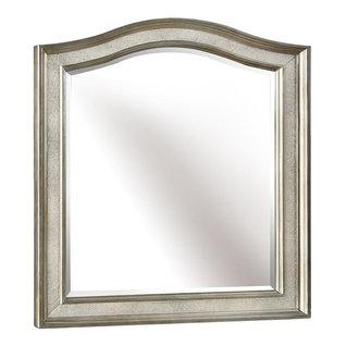 Coaster Coaster Bling Game Vanity Mirror In Metallic Platinum Bathroom Mirrors
