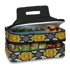 Entertainer Hot and Cold Food Carrier, Black/Red, Provence Flair
