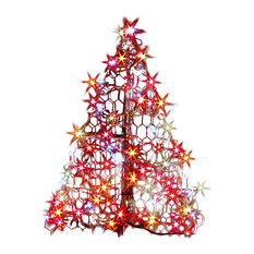 Crab Pot Trees? - 2' Crab Pot Tree With 100 Multicolor Mini Lights - Outdoor Holiday Decorations
