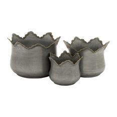 Harrison Metal Planters, Set of 3