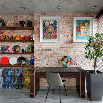 Яркий лофт для ценителя современного искусства
