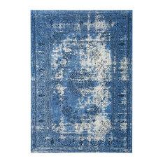 Dawlish Blue Vintage-Inspired Persian Rug, 5'x8'