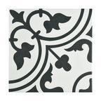 "Kaligaris Porcelain Art Tiles, Set of 16, 9.75""x9.75"", White"