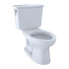 Toto Eco Drake Elongated Two-Piece Toilet, 1.28 GPF CST744EFN.10#01 Cotton White