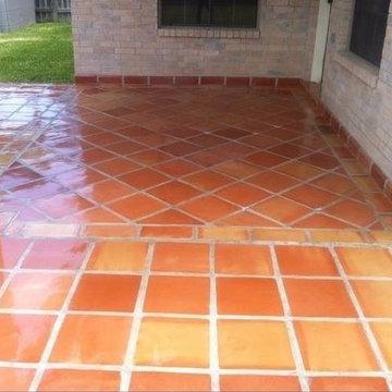 Traditional Saltillo Terra Cotta Floor Tile