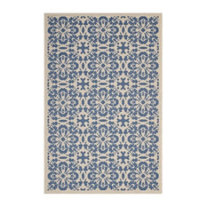 Modway Ariana Polypropylene Area Rug, Blue and Beige, 5'x8'