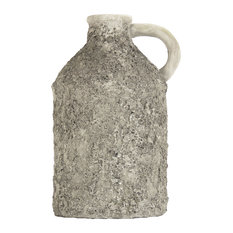 Round Pitcher in Grey - Gray, Large