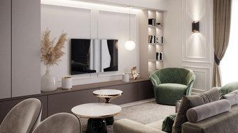 appartamento di 110mq in stile classico contemporaneo