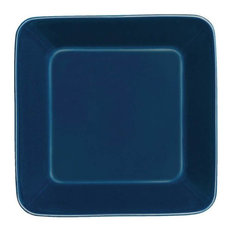 """Teema Plate Collection, Blue, Square Plate, 6.25""""x1.75"""", Set of 2"""
