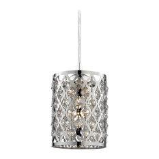 Destination Lighting - 582-26 GL1046-26 Crystal Mini Pendant Light - Pendant Lighting  sc 1 st  Houzz & 50 Most Popular Silver Pendant Lights for 2018 | Houzz
