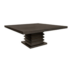 """Hudson 72"""" Square Dining Table, Textured Coffee"""