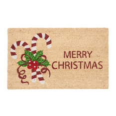 Candy Cane Merry Christmas Doormat
