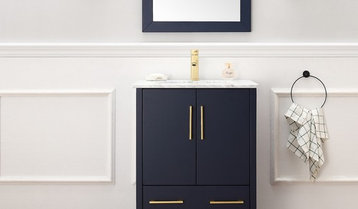 Blue and Gray Vanities With Free Shipping
