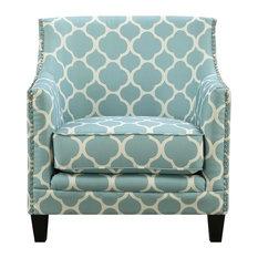 Deena Accent Chair, Aqua