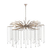 Willow 7-Light Chandelier, Antique Silver