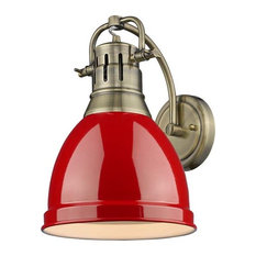 Duncan 1-Light Wall Sconce, Red