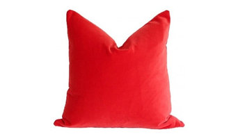 Flame Velvet Pillow