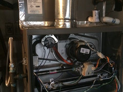 HVAC white flakes from furnace? Please help  !