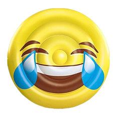 BH Inflatables, Giant Emoji Tears of Joy Inflatable Pool Float Raft, 5'