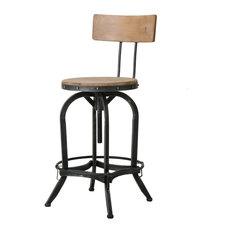 Modern Industrial Design Adjustable Seat Height Bar/Counter Stool