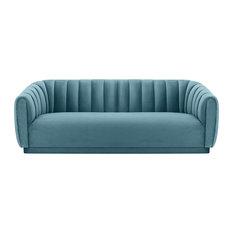 Mod Albury Velvet Sofa Sea Blue Sofas