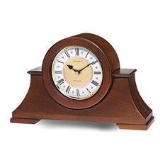 bulova bulova cambria chiming mantel clock antique walnut finish twotone dial