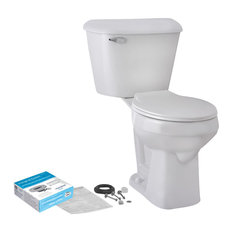 Round Front 1.6 GPF Smartheight Complete Toilet Kit, White