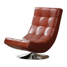 Trinidad BM123154 Contemporary Swivel Chair, Mahogany Red