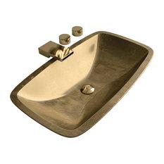 Pert Bathroom Sink, Gold Leaf